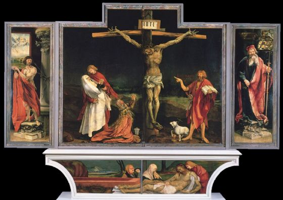 Grunewald, Matthias: The Isenheim Altarpiece. Religious/Christian Fine Art Print/Poster. Sizes: A4/A3/A2/A1 (003297)